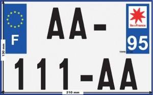 nouvelle plaque d'immatriculation deux-roues